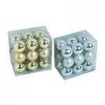 Set globuri pentru brad 18X40mm