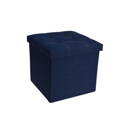 Puf - cutie pentru pastrare  Jeans